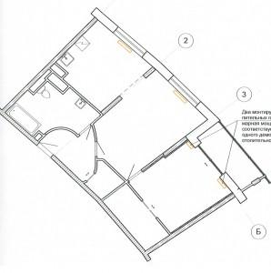 Перепланировка двухомнатной квартиры Химки ул. Молодежная 21 - план после перепланировки